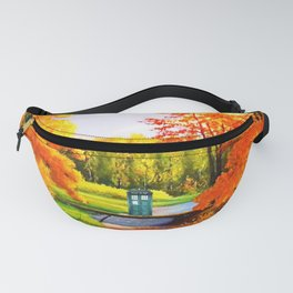 Tardis Art Bridge Forest Autumn Fanny Pack