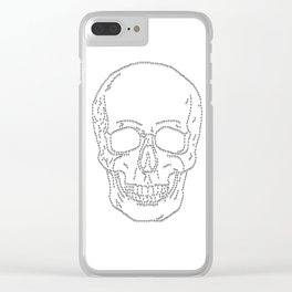 Skull and Crosses Clear iPhone Case