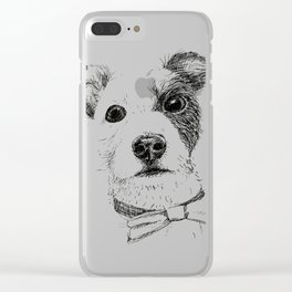 Jack Russell - Bo with a Bow Tie Clear iPhone Case