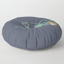 Octopus Loves Kitty Floor Pillow