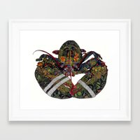 lobster Framed Art Prints featuring Lobster by Aina Serratosa