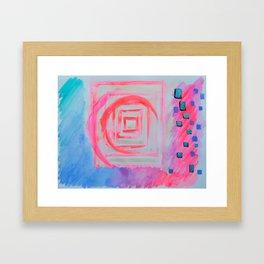 Blue Pink Framed Art Print
