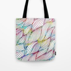 Trace Paint Abstract Tote Bag