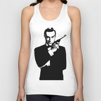 james bond Tank Tops featuring James Bond 007 by Walter Eckland