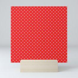 Domino Dots red and white Mini Art Print