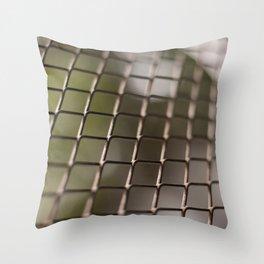 Closeup grid grille texture detail Throw Pillow