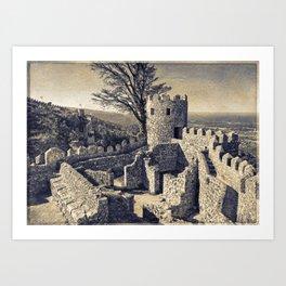 Castelo dos Mouros, Sintra, Portugal Art Print