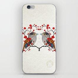 look at me my bird  iPhone Skin