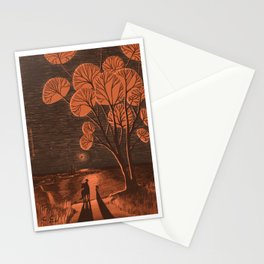 The first meeting - A magical night under the bloody red moon Stationery Cards