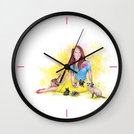 Snow White I | Endometriosis awareness Wall Clock