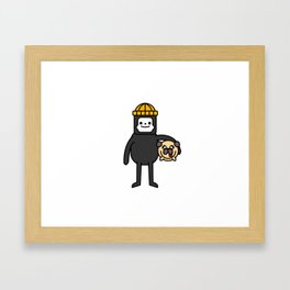 LILINTROVERT and Pudgy Framed Art Print