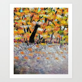 The Meadow in Acrylics Art Print