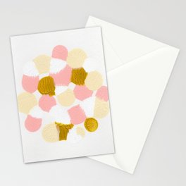 Pink Abstract painting Stationery Cards