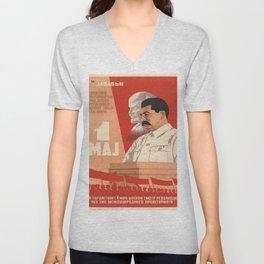 Vintage poster - Josef Stalin Unisex V-Neck