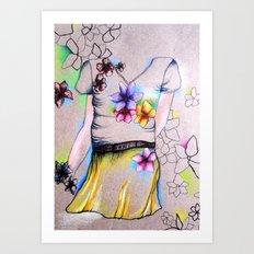 Outline Art Print