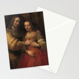 "Isaak and Rebekka, known as ""The Jewish Bride"" - Rembrandt van Rijn (1665 - 1669) Stationery Cards"