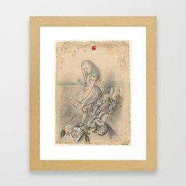 Alice in Wonderland - John Tenniel Framed Art Print