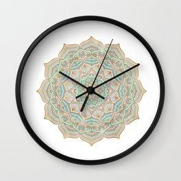 Mystic mandala - blue and gold Wall Clock