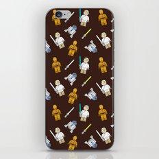 R2D2+3CPO+Luke in Brown iPhone & iPod Skin