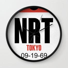 NRT Tokyo Luggage Tag 1 Wall Clock
