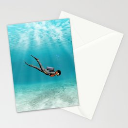S.C.U.B.A. Diver Stationery Cards