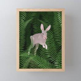 Fern field and wild rabbit  Framed Mini Art Print