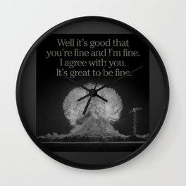 dr strangelove 6 Wall Clock
