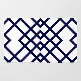 Geometric Pattern in Navy Blue Rug