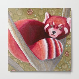 Firefox in the forest Metal Print