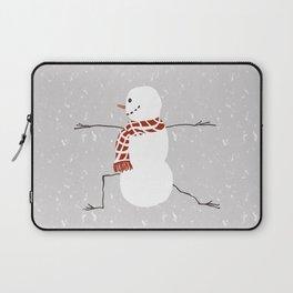 Snowman yoga - Warrior II Laptop Sleeve