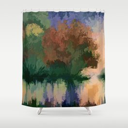 Rippled Sunset – 2 Shower Curtain