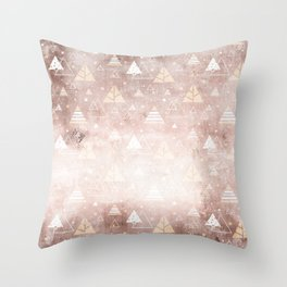 Abstract Blush Concrete Mountain Dreamscape Pattern Throw Pillow