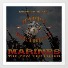 Happy Birthday #Marines Art Print