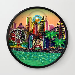 Luna Park Dreams Wall Clock