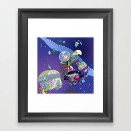 Luna the Vampire - Snack time! Framed Art Print