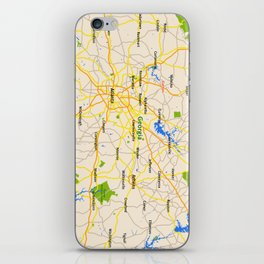 Georgia Map Design - USA map iPhone Skin