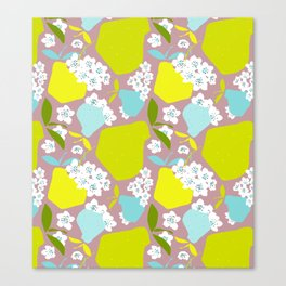 Pears + Pear Blossoms Canvas Print