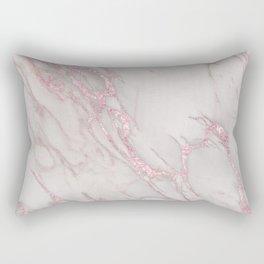 Marble Love Rose Gold Pink Metallic Rectangular Pillow