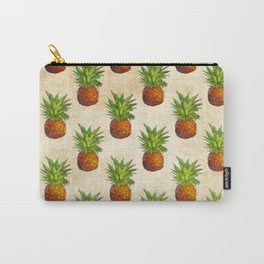 Retro Vintage Aloha Fruit  Pineapple  Pattern on #Society6 Carry-All Pouch