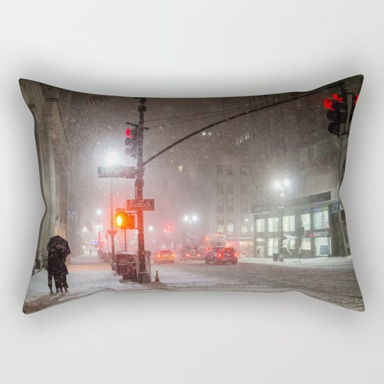 New York City Snow Romance Rectangular Pillow