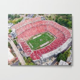 UGA Stadium Art - Dawgs Fans Metal Print
