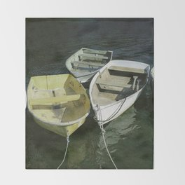 Rowboats Throw Blanket