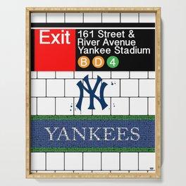 NYC Yankees Subway Serving Tray