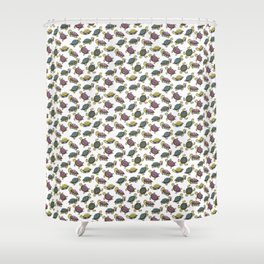 Turtles on the lake Shower Curtain