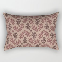 Autumn oak leaves and acorns pattern  Rectangular Pillow