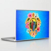 surfboard Laptop & iPad Skins featuring Hawaiian Surfboard Sunset by MacDonald Creative Studios