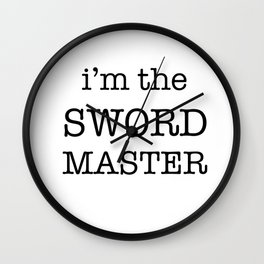 sword master Wall Clock