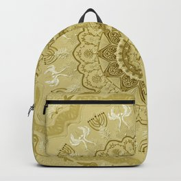 chanukkah-mandala-angels-candelars-judaica art-Jewish Holidays-joy-light-gift-3D effect Backpack