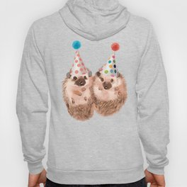 Twins Hedgehog with Party Hat Hoody