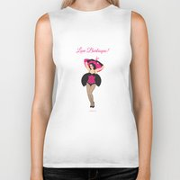 burlesque Biker Tanks featuring Burlesque Girl by Sabi Koz